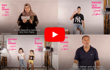 Powerful video brings home the message about evictions in East Jerusalem